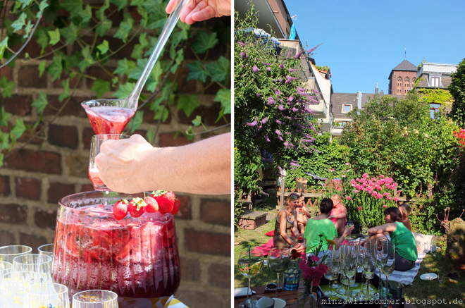 erdbeerminzbowle, zero waste picknick, picknick ohne müll, erdbeerbowle rezept