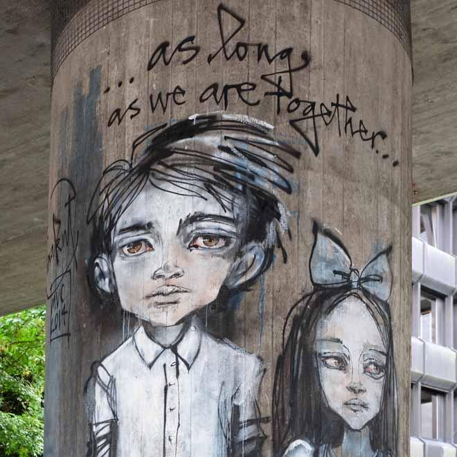 Herakut, Streetart in München, Urbanart, Munich Graffiti, Urbanism, Urbanstyle