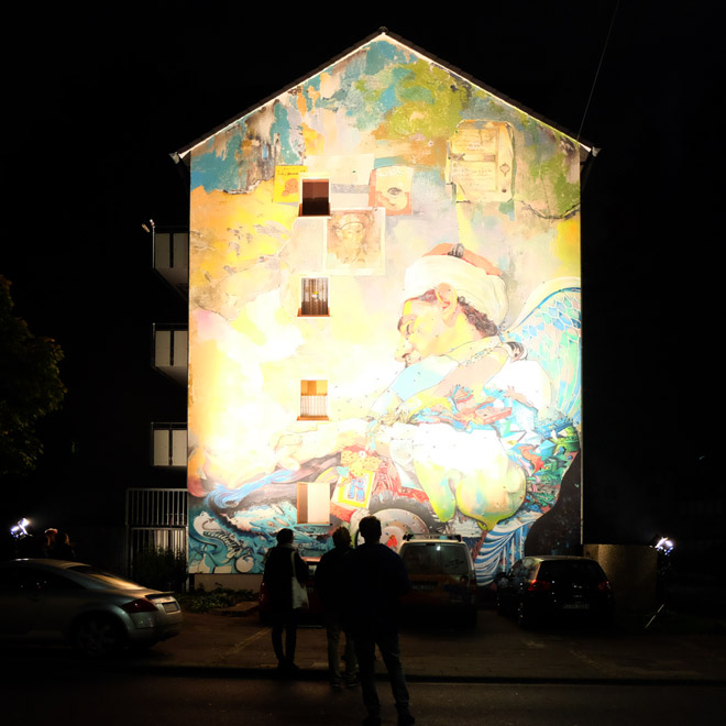 Museumsnacht, Köln, 16. Museumsnacht, Museum, Nacht, Museumsnacht 2015, Ammar Abo Bakr, Streetart, City Leaks, 2015, streetartcologne, Minza will Sommer, Köln-Mülheim