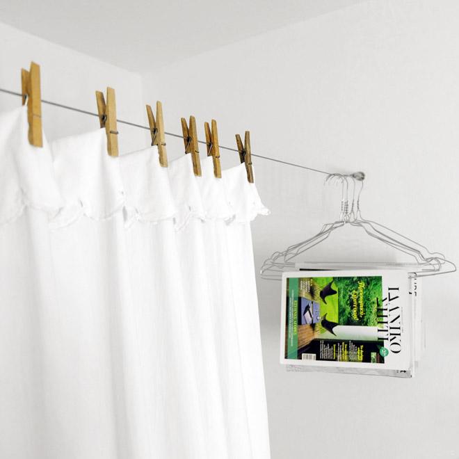 plastikfreier Duschverhang selber machen, DIY, Stoffvorhang, Duschvorhang aus Stoff, Upcycling, Wiederverwendung, Nachhaltigkeit, plastikfrei, Wäscheklammer, Fremdverwendung, Minza will Sommer